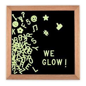 Glow in the dark black letterboard